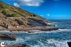 Lanai (B-Sharp Photography) Tags: lanai oahu hawaii mountain ocean shoreline clouds sky landscape surf hdr