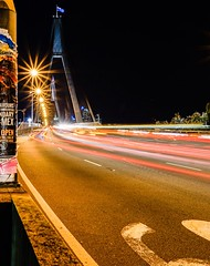 Speeding over Anzac bridge (andbar2k) Tags: sydney night bridge city longexposure lighttrails anzacbridge anzac