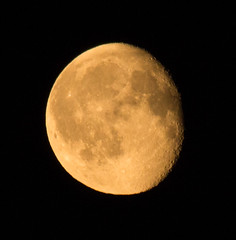 Waning Gibbous Moon 22 July 2016 (Sculptor Lil) Tags: canon700d dslrsingleexposure london astrophotography handheld moon moonrise waninggibbous