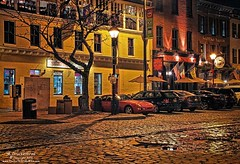 Cobblestone Thames Street, Fells Point, Baltimore MD (PhotosToArtByMike) Tags: fellspoint thamesstreet cobblestonestreet baltimore maryland md fellspointnationalhistoricdistrict historicwaterfront waterfrontcommunity storefronts 18thand19thcenturyhomes rowhouses baltimoreharbor maritime