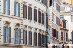 Rome, Italy- Close up of Roman apartment buildings and more modern architecture. (Remsberg Photos) Tags: europe italy rome ancient ancientcivilization roman architecture buitstructure tourist sightseeing photography history historical internationallandmark capitolcity romaprovince ancientrome modern apartmentbuilding ita