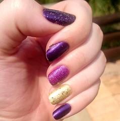 DESAFIO DA LIGA - MIX'N MATCH (Bah Teles) Tags: mixandmatch risqu gliter doyda illamasqua anita roxo purple sand