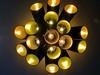 Light Rocket (Heaven`s Gate (John)) Tags: electric light closeup rocket bulb electricity below underneath abstract reality johndalkin heavensgatejohn yellow black reflection