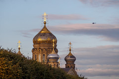 Uspenskaya church (Suicidal_zombie) Tags: russia russie saintpetersburg stpetersburg uspenskaya church helicopter sky light beautiful evening