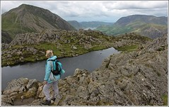 Summit views. (stu.bloggs..Dont do Sundays) Tags: landscape lakedistrict lakeland lake tarn water mrsbloggs mountains fells haystacks highcrag mellbreak buttermeremoss crummockwater rockyoutcrops rocks sky clouds views summit summer july 2016 valley grasmoor