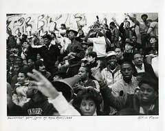 Basketball Game, 1985 (Cambridge Room at the Cambridge Public Library) Tags: cambridgemass cambridge massachusetts bw blackandwhite olivepierce pierceolive cambridgerindgeandlatinschool crls basketballgame basketball