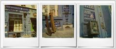 Le 27 ... (Place du Jeu de Balle, Brussels) (@necDOT) Tags: marolles triptyque triptych montage bruxelles brussels polaroid sx70 impossibleproject