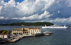 Shipping lane (ORIONSM) Tags: corfu port ferrry ship boat house water sea transport close sony greece rx100mk3 infinitexposure