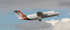 G-JOTR - British Aerospace Avro RJ85 - Jota Aviation departing London Southend (Chris Austin100) Tags: gjotr british aerospace avro rj85 jota aviation departing london southend