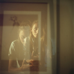 (Džesika Devic) Tags: yashicaa mediumformat girl portrait goldenhour light magic 120 film kodak portra doubleexposure
