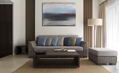 Acrylbild Dark Night abstraktes Acrylbild (Wandbilder Antoniya Slavova Art) Tags: rot modern night dark blau abstrakt acrylbilder wandbilder