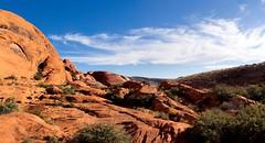Red Rocks landscape, Nevada (javi.velazquez) Tags: park vegas sky usa mountain tree green monument rock stone landscape rocks lasvegas nevada national redrocks