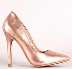 "neon nubuck pointy toe pump 100 rose gold • <a style=""font-size:0.8em;"" href=""http://www.flickr.com/photos/64360322@N06/15541816319/"" target=""_blank"">View on Flickr</a>"