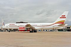 G-OOOG 1 Boeing 757-23A Air 2000 MAN MAR90 (Ken Fielding) Tags: boeing air2000 gooog b75723a