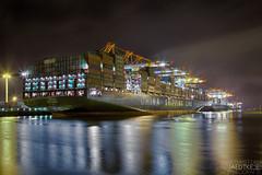 CSCL Globe (-BlaqueBeat-) Tags: canon deutschland eos licht nacht d mark 5 iii hamburg vessel bild hafen schiff hdr speicherstadt mark3 markiii langzeit 5d3