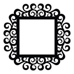 swirl-flourish-frame (emily dyer) Tags: silhouette svg papercut diecut