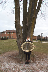 Mirror Illusion (AnaTennis) Tags: park portrait reflection nature pinetree outdoors photography mirror sister illusion
