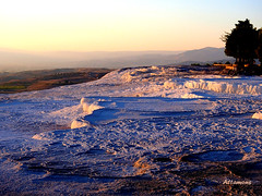 The sun sets at Pamukkale (altamons) Tags: trip travel vacation holiday turkey interestingness interesting holidays scout unescoworldheritagesite explore pamukkale genomics heirapolis geoscience scouted explored altamons seekingscience