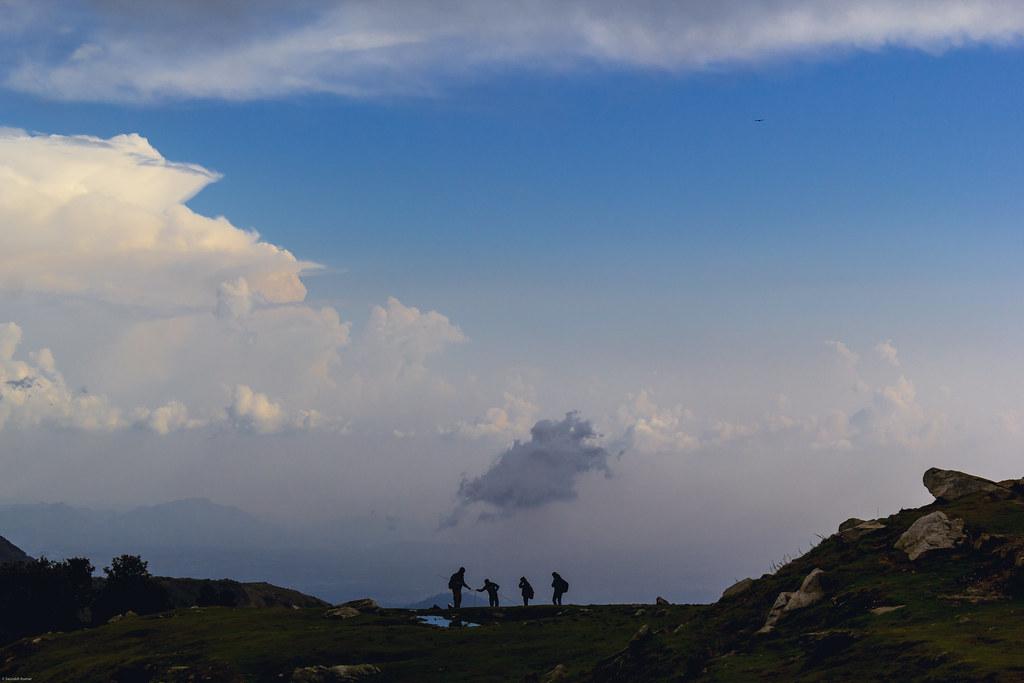 blue sky mountains himachal dharamsala