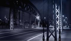 Brucke-Frankfurt_SW (Schlumpf1175) Tags: bridge white black bulb zeiss photoshop germany nacht frankfurt sony bank carl brcke 1670 langzeitbelichtung ezb schwarzweis a6000 schlumpf1175