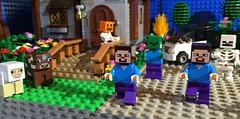 LEGO Minecraft (woodrowvillage) Tags: house motion brick film stone garden photography mine lego zombie craft stop legos animation ghosts zombies creeper brickfilm minifigure moc minecraft
