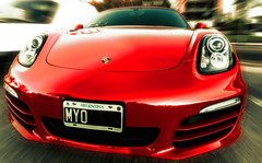 Red Boxster (Marcelo Campi) Tags: street red beauty car sport movement porsche boxster ultrawide 1020sigma urbanexploracin