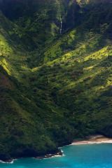Hanakapiai Valley aerial (Emily Miller fine art) Tags: beach airplane hawaii coast waterfall tour flight aerial cliffs kauai napali hanakapiai wingsoverkauai