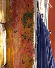 Felpa blu (Lella '54) Tags: orange verde green yellow explore giallo arancio oldwalls striscediluce stripesoflight felpablu scrapedwalls bluesportwear backclothoutoffocus