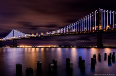 20141129 CA San Fran Bridges029 (Dan_Girard_Photography) Tags: sanfrancisco california nature water night cityscape unitedstates goldengatebridge baybridge 2014 dangirardphotography