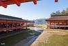 Itsukushima shrine (irawlinson) Tags: orange japan island gate shrine hiroshima miyajima itsukushimashrine lowtide tori itsukushima torigate hatsukaichi