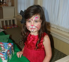 Sarah McCollum, Face Painted and Enjoying the Craft Table