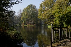 Pond in the park (witoldmarsowicz) Tags: park autumn trees water pond ef24105l canon50d