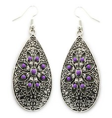 Glimpse of Malibu Purple Earrings P5420A-1