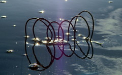 Reflections of Spring [*Explored :-D] (Snorkle-suz) Tags: spring beach sea ocean blue reflection newzealand nz aotearoa water waves treasure myfavoritethings explored outside outdoor metal nikoncoolpixl120 shore seaside seashore sand coast rusty rust foundonthebeach dof artistic inexplore beaches beachtreasure beachtreasures himatangibeach circle circles round circleswithincircles coils loops shell seashell shells seashells thespring experimental