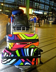 i did not travel light..... ~grin~ (muffett68 ☺☺) Tags: amsterdam luggage heys amazingcolor totw ccolorful