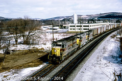 762, Endicott, NY 2-1976 (Rkap10) Tags: railroad other places newyorkstate sd45 erielackawanna