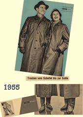 Kleppermode 1955 (dykthom1000) Tags: 1955 fashion raincoat mode rainwear regenmantel kleppermantel kleppermode