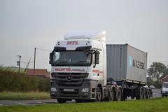 Mercedes Benz Actros 'Macintyre Transport Ltd' reg AV62 MDK (erfmike51) Tags: container lorry artic mercedesbenzactros