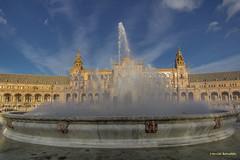Spain - Seville - Plaza de Espaa (Marcial Bernabeu) Tags: plaza espaa fountain sevilla andaluca spain fuente seville andalucia andalusia bernabeu marcial bernabu