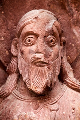 Apostle 3 (Nick in exsilio) Tags: sculpture face switzerland cathedral basel romanesque minster mnster apostle