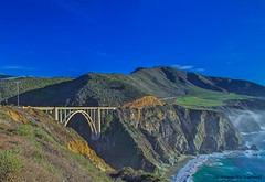 Bixby Bridge and Beyond (HavCanon.WillTravel) Tags: california mist waves bridges bigsur pacificocean hdr bixbybridge fdrtools canon5dmkii