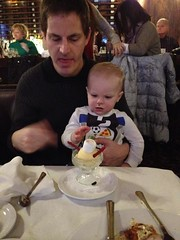 """Paul Eats Snowman Ice Cream at the Walnut Room • <a style=""""font-size:0.8em;"""" href=""""http://www.flickr.com/photos/109120354@N07/16117608071/"""" target=""""_blank"""">View on Flickr</a>"""