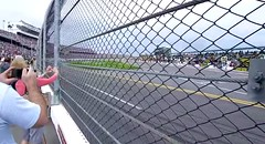 How close to the fence should you get at a NASCAR race? (pitstoppost) Tags: fence track nascar