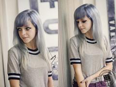 Liza (Marie Sturges ⚓) Tags: camera blue liza girl hair 50mm nikon purple pastel vanity lavender novelty future blonde mm nikkor dslr 50 platinum d7000