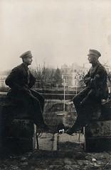 Zum andenken unser unerwartetes Wiedersehen in Rethel (Paranoid_Womb) Tags: soldier army war postcard wwi ak german weapon imperial soldiers ww1 1914 1915 greatwar 1917 1918 1916 weltkrieg