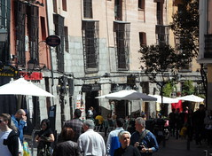 I've been to Madrid (indrarado) Tags: madrid people food sun holiday naked nude mood market tourist tourists fresh mercado journey plazamayor mickjagger