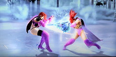 battle - Evil Sue vs Wilma Sue in SoulcaliburV (Cliffather) Tags: videogame clone oc namco soulcalibur fightinggame originalcharacter virtualgirl customcharacter ps3game