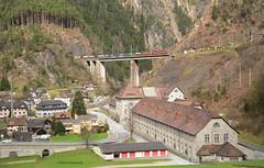 Re 6/6 11670 und Re 4/4 11340 (vsoe) Tags: railroad panorama mountain train schweiz switzerland swiss engine railway sbb berge bahn ch zge gotthard wassen sbbcargo