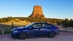 30 (Brian Koprowski) Tags: blue sunset car landscape trail cameras subaru vehicle wyoming tripods devilstower wrx alpenglow wy joynerridge briankoprowski