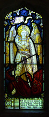 St Michael kills a dragon (Kempe & Co) (Simon_K) Tags: church churches peterborough cambridgeshire sutton eastanglia cambs soke suttoncumupton
